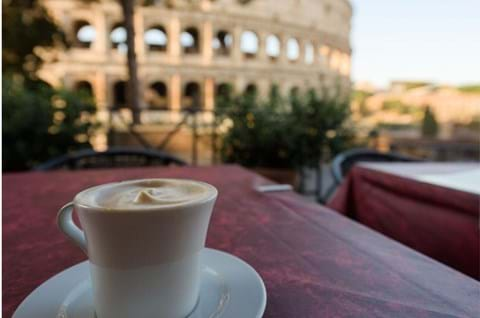Experience Rome Cappucino In Front Of The Colosseum Best Attractions In Rome