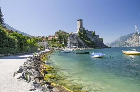 See Scaligero Castle in Malcesine on guided Lake Garda tour