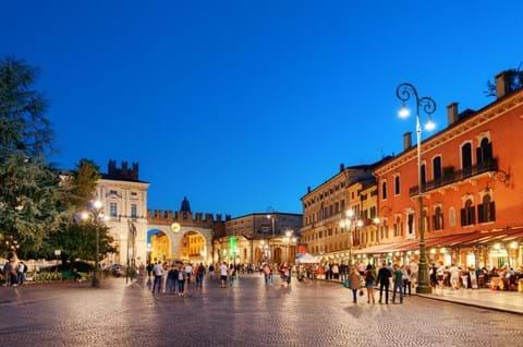 Explore Piazza Bra on guided day trip to Verona