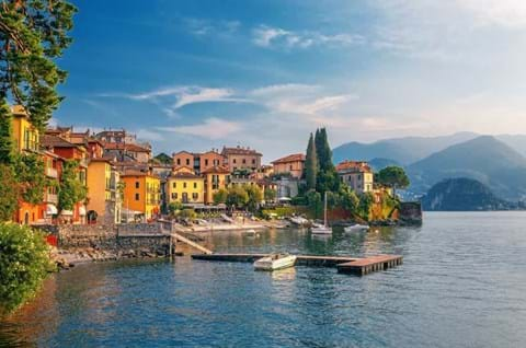 Varenna Scenic Sunset View In Como Lake