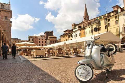 Vespa At The Piazza Italy Lifestyle