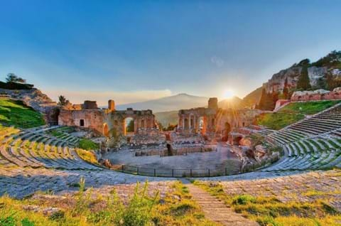 Discover Theatre Of Taormina on guided Sicily holiday